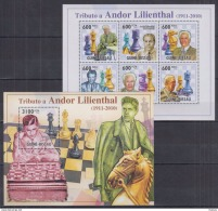 M40 Guinea-Bissau - MNH - Games - Chess - Famous People - 2010