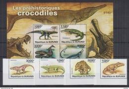 M40 Burundi - MNH - Animals - Prehistorics - 2011