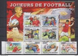 M40 Burundi - MNH - Sports - Football - 2011
