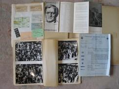 Bayreuth Wagner 1972 Documents Voyage Tickets, Carte Postale De Réprésentation, Photos Spectateurs, Autographe... - Musique & Instruments