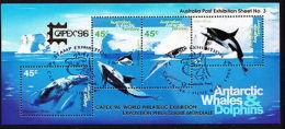 Australia AAT Australian Antarctic Territory Whales & Dolphins CAPEX 96 Gold O/P