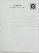 CANADA LETTER CARD ENTIER ENTERO POSTAL INTERO VOIR SCAN VICTORIA ONE CENT UNUSED - 1860-1899 Reign Of Victoria
