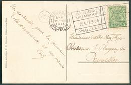 C.P. Avec Ambulant TROIS VIERGES -LUXEMBOURG AMBULANT - 11773 - 1859-1880 Armoiries