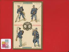 Chocolat Suchard Jolie Chromo Dorée Infanterie Soldats Militaires AUTRICHE  HONGRIE - Suchard