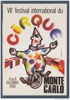 = 1980 Festival International Du Cirque Monte Carlo 7ème Timbre émis Lors De Cette Manifestation 1248 - Zirkus