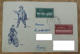 DDR 1958   N° YT 377 378 Journée Du Timbre  -  Tag Der Briefmarke / Voiture Postale Wagon Avion