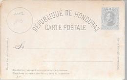 HONDURAS ENTERO POSTAL ENTIER INTERO POSTAL STATIONERY AÑO 1882 VOIR SCAN UNUSED - Honduras