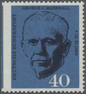 Bundesrepublik Deutschland: 1960, 40 Pfg. Marshall, Durch Bogenumschlag Durch Die Mitte Der Marke (erkennbar Durch Breit