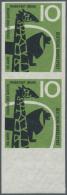 Bundesrepublik Deutschland: 1958, 100 Jahre Zoologischer Garten Frankfurt A. M. Als Ungezähntes, Senkrechtes, Postf