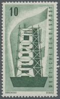 """Bundesrepublik Deutschland: 1956, 10 Pfg. Schwärzlichgrün """"EUROPA"""", Postfrisch In Der Type """"Z Wasserzeichen Se"""