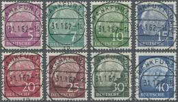 "Bundesrepublik Deutschland: 1960, Heuss Lumogen, Kompletter Satz Ideal Zentrisch Gestempelt ""FRANKFURT 31.1.62"", Voller"