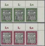 Bundesrepublik Deutschland: 1951, Marienkirche, Komplette Ausgabe Je Im Waagerechten Dreierstreifen Aus Der Rechten Ober