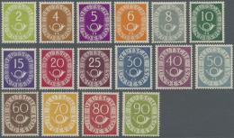 Bundesrepublik Deutschland: 1951: Posthorn, Postfrischer Luxussatz, Signiert. (KW Michel 2.200,- €)