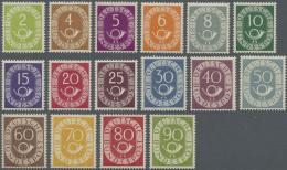 Bundesrepublik Deutschland: 1951: Posthorn, Postfrischer Luxussatz, Signiert Schlegel BPP. (KW Michel 2.200,- €)