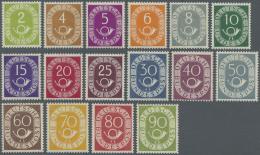 Bundesrepublik Deutschland: 1951: Posthorn, Postfrischer Luxussatz,. (KW Michel 2.200,- €)