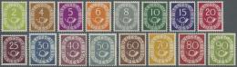 """Bundesrepublik Deutschland: 1951. Posthorn Kpl., Postfrisch. FA Schlegel BPP (1984): """"Die Marken Sind Echt, Einwandfrei"""