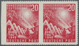 Bundesrepublik Deutschland: 1949, 20 Pfg. Bundestag Im Waagerechten Paar, Rechte Marke Links Ungezähnt Und Linke Ma