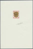 Französische Zone - Allgemeine Ausgabe: 1945. Epreuve D'artiste Polychrome Signée Für 20 Pf Württe