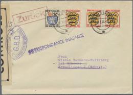 Französische Zone - Allgemeine Ausgabe: 1946, 15 Pf U. 3 X 20 Pf Wappen Auf Brief Von Konstanz, 6.5.46, Nach Kreuzl