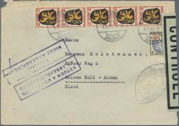 Französische Zone - Allgemeine Ausgabe: 1946, 5 X 12 Pf U. 15 Pf Wappen Auf Brief Von Oberndorf/Neckar, 9.5.46, Nac