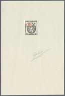 """Französische Zone - Allgemeine Ausgabe: 1946, 1-10 'Wappen"""", Mi. 4 Fehlend, 9 Épreuves D'artiste - Küns"""