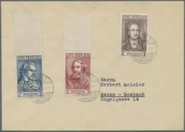 Französische Zone - Allgemeine Ausgabe: 1945, 1 Pfg. - 5 Mark Freimarkenausgabe Auf Zwei Briefen, 2 Und 5 Mark Mit