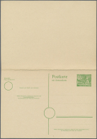Berlin - Ganzsachen: 1955. Doppelkarte 10+10 Pf Grün Kolonnaden, Ungebraucht. (Mi. 180,-)