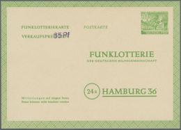 "Berlin - Ganzsachen: 1949. Funklotterie-PK 10 Pf Kolonnaden Mit Viol. Handstpl. ""65Pf"" Zur Herabsetzung Des Verkaufsprei"