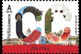 Spanje / Spain - Postfris / MNH - 12 Maanden, Caceres 2017