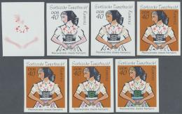 DDR: 1971, Sorbische Mädchen-Tanztrachten 40 Pf. 'Tracht Der Katholischen Sorben Aus Kamenz' In 7 Verschiedenen Ung