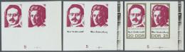 DDR: 1971, 100. Geburtstag Von Rosa Luxemburg Und Karl Liebknecht 20 Pf. 'Liebknecht' Und 25 Pf. 'Luxemburg' In 3 Versch