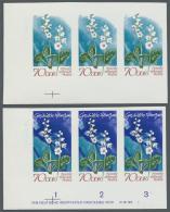 DDR: 1970, Geschützte Heimische Pflanzen 70 Pf. 'Rundblättriges Wintergrün (Pyrola Rotundifolia)' In 4 Ve