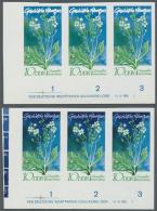 DDR: 1970, Geschützte Heimische Pflanzen 10 Pf. 'Seekohl (Crambe Maritima)' In 4 Verschiedenen Ungezähnten Waa