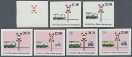 DDR: 1969, Sicherheit Im Straßenverkehr 20 Pf. 'Vorsicht An Bahnübergängen' In 7 Verschiedenen Ungez&aum