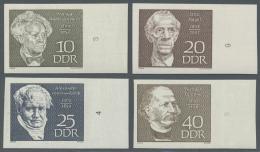 DDR: 1969, Berühmte Persönlichkeiten Kompletter Satz UNGEZÄHNT Jeweils Vom Rechten Bogenrand, Postfrisch