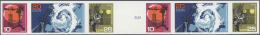DDR: 1968, Meteorologie, Ungezähnter Phasendruck (letzte Phase Vor Zähnung), 2 Zusammendruck-Streifen Im Waage