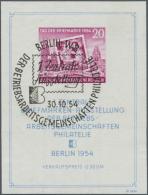 DDR: 1954, Blockausgabe: Erste Zentrale Briefmarkenausstellung Der Betriebs-Arbeitsgemeinschaften Mit PLATTENFEHLER II &