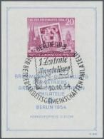 DDR: 1954, Block Tag Der Briefmarke In Type I, Mit Sehr Seltenem Senkrecht Gerippten Papier, Sauberer Anlaßbezogen