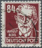DDR: 1953, Freimarke: Persönlichkeiten Aus Politik, Kunst Und Wissenschaft, 84 Pf. In Seltener Farbe BRAUNROT Mit W