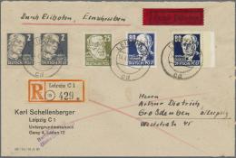 DDR: 1953, Freimarken: Persönlichkeiten Aus Politik, Kunst Und Wissenschaft, 80 Pf Schwarzblau Auf Gestrichenem Pap