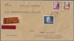DDR: 1951, 5 DM Schwarzblau Pieck Sowie 8 Pf U. 20 Pf Köpfe, Exakt Portogerechte MiF Auf Wertbrief (38gr) über