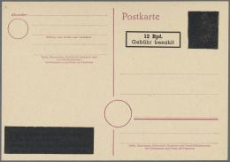 Alliierte Besetzung - Aufbrauchsausgaben: Französische Zone: 1946, 12 Rpf. Auf 6 Pfg. Aufbrauch-Ganzsachenkarte, Un