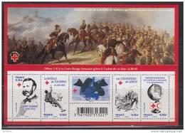 150ème Anniversaire De La Croix Rouge N° F4386, 5 Timbres, Henri Dunant, Soldat Blessé, Neuf Gommé