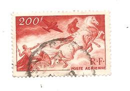 Timbre Poste Aérienne Le Char Du Soleil Série Allégories Mythologiques Valeur 200 F De La R.F. De 1946-47  Oblitéré - 1927-1959 Oblitérés