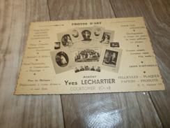 61 ORNE COURTOMER PHOTOS D ART ATELIER YVES LECHARTIER - Visiting Cards