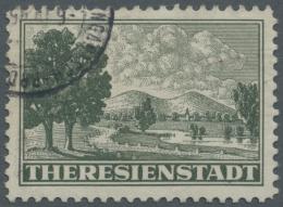 Dt. Besetzung II WK - Böhmen Und Mähren - Zulassungsmarke (Theresienstadt-Marke): 1943, Zulassungsmarke, Geste - Occupation 1938-45