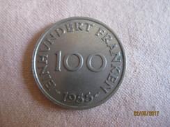 France: Sarre 100 Francs 1955 - Sarre (1954-1955)