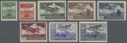 Sudetenland - Maffersdorf: 1938, 50 H. Bis 20 Kc. Flugpost, Kompletter Postfrischer Satz, 1 Kc. Mit Gummiknitter Und 2 K