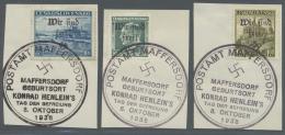 Sudetenland - Maffersdorf: 1938, 1,20 Kc. Bis 10 Kc. Stadtbilder, 50 H. Benes 1937 Und 1,60 Kc. Kuttenberg, 11 Verschied