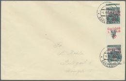 """Sudetenland - Karlsbad: 1938, 50 H. Kaschau Im Senkrechten Zwischenstegpaar Auf Umschlag Mit Stempel """"KARLSBAD 4d 4.X.38"""
